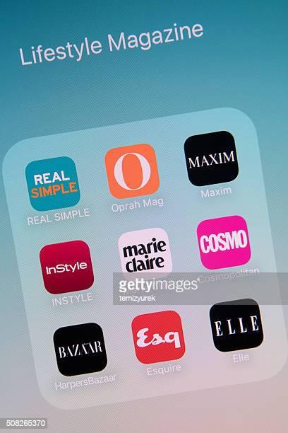 Lifestyle Magazine Apps on Apple iPhone 6s Plus Screen
