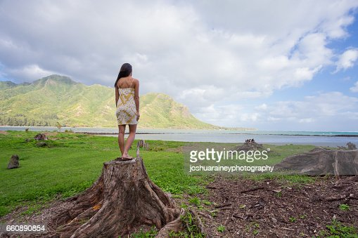 Lifestyle Portrait in Oahu Hawaii : Stock Photo