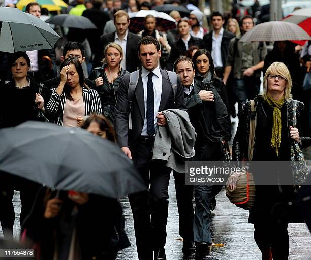 LifestyleAsiacitiesAustraliaSydneyFEATURE by Martin Parry This photo taken on May 31 2011 shows Sydney residents making their way to work in the...