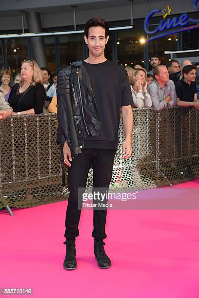 LifestyleBlogger Sami Slimani attends the Suicide Squad Live Event at CineStar on August 3 2016 in Berlin Germany