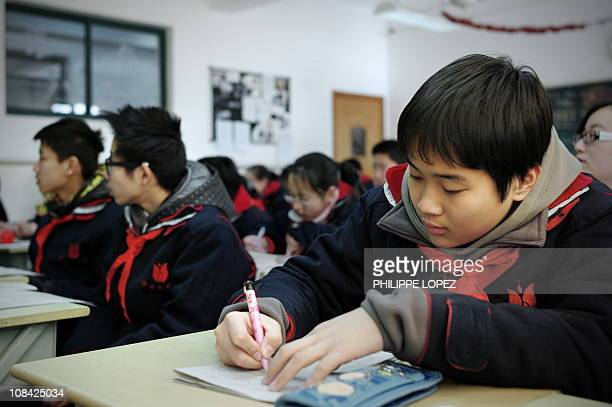 LifestyleChinaeducationOECDtestFEATURE by D'Arcy DoranIn this picture taken on January 11 2011 students attend class at the Jing'an Education College...
