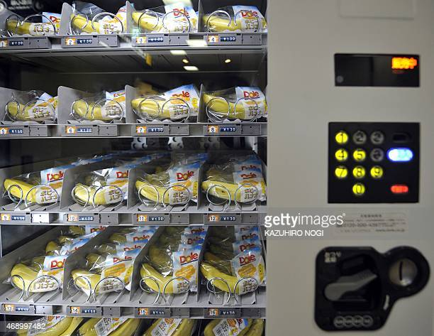 LifestyleJapanretailvendingmachinesFEATURE by Miwa Suzuki This photo taken on August 25 2010 shows wrapped banana in a vending machine in Tokyo Dole...