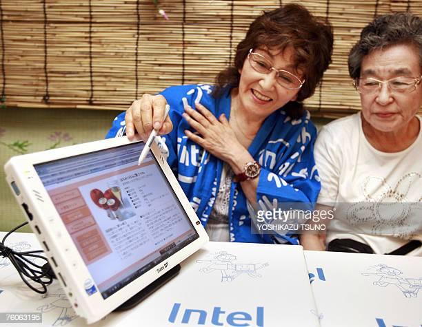 LifestyleJapanseniorsInternettechnologyFEATURE by Miwa Suzuki Kayako Okawa the leader of the Computer Grannies Society operates newly developed...