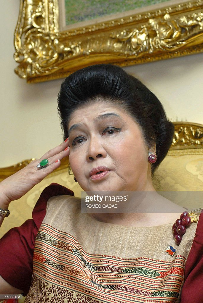 STORY 'Lifestyle-Philippines-Imelda,FEATURE-INTERVIEW' by Karl Wilson Former first lady <a gi-track='captionPersonalityLinkClicked' href=/galleries/search?phrase=Imelda+Marcos&family=editorial&specificpeople=217389 ng-click='$event.stopPropagation()'>Imelda Marcos</a> talks at her apartment in Manila, 27 June 2007. <a gi-track='captionPersonalityLinkClicked' href=/galleries/search?phrase=Imelda+Marcos&family=editorial&specificpeople=217389 ng-click='$event.stopPropagation()'>Imelda Marcos</a> says she has nothing to be ashamed of, 08 October 2007. For 20 years as first lady of the Philippines she lived a fairytale existence only to see it all disappear in a whirlwind of public outrage over the greed and excesses of the Marcos years. Through it all Imelda rode the storm.