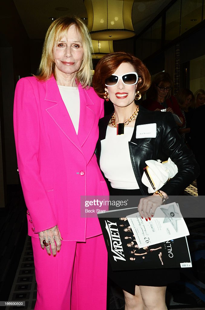 Lifetime Acheivement Award recipiant actress <a gi-track='captionPersonalityLinkClicked' href=/galleries/search?phrase=Sally+Kellerman&family=editorial&specificpeople=207185 ng-click='$event.stopPropagation()'>Sally Kellerman</a> (L) and producer <a gi-track='captionPersonalityLinkClicked' href=/galleries/search?phrase=Kat+Kramer&family=editorial&specificpeople=236074 ng-click='$event.stopPropagation()'>Kat Kramer</a> attend The Hollywood Chamber Of Commerce 92nd Annual Installation & Lifetime Achievement Awards luncheon at Sheraton Universal on April 18, 2013 in Universal City, California.