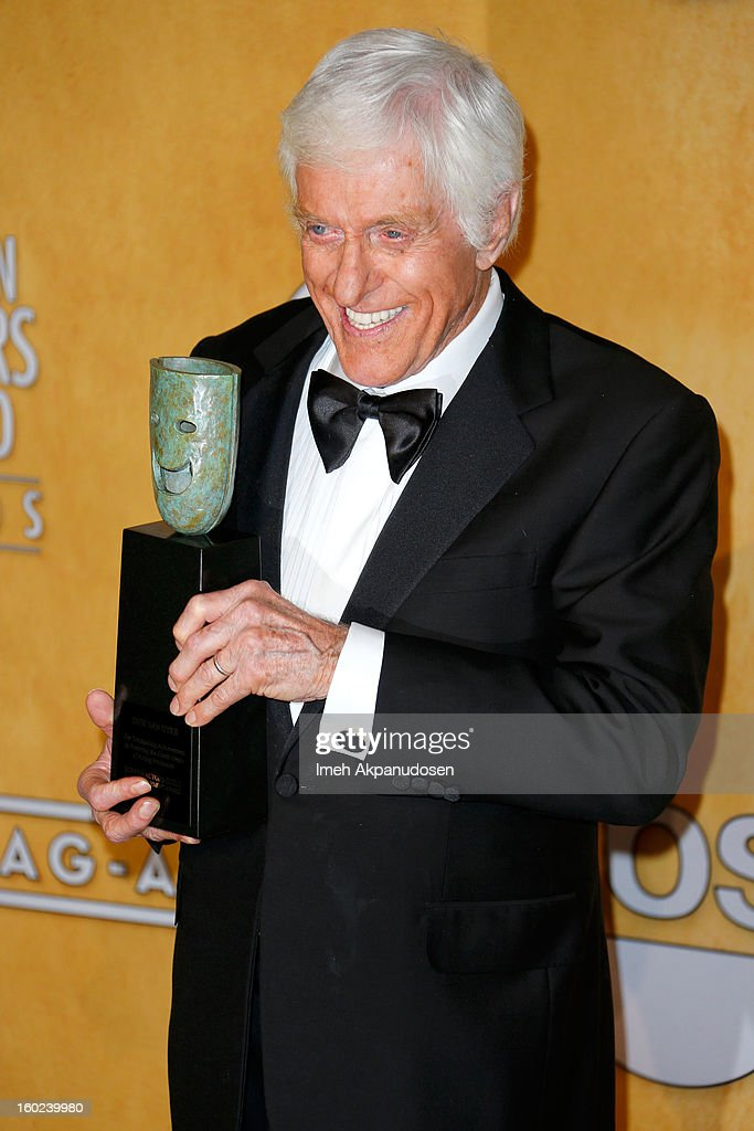 Lifetime Acheivement Award Winner Dick Van Dyke poses in the press room during the 19th Annual Screen Actors Guild Awards held at The Shrine Auditorium on January 27, 2013 in Los Angeles, California.