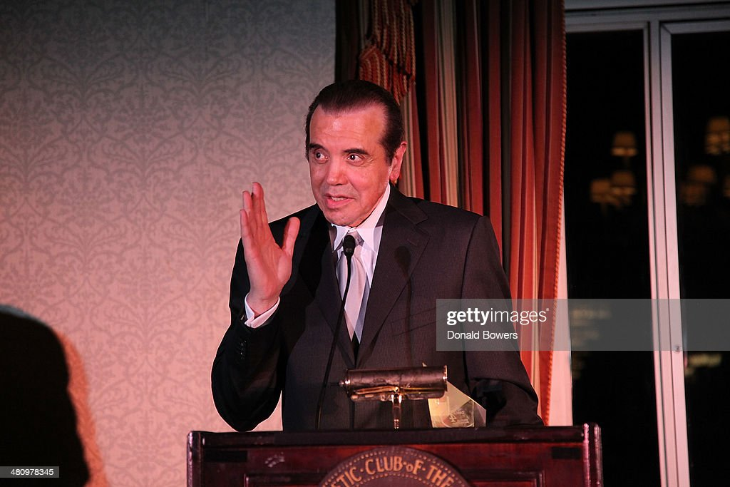 Lifetime Achievement Award recipient and actor Chazz Palminteri speaks onstage at the Table 4 Writers Foundation Second Annual Awards Gala at New...
