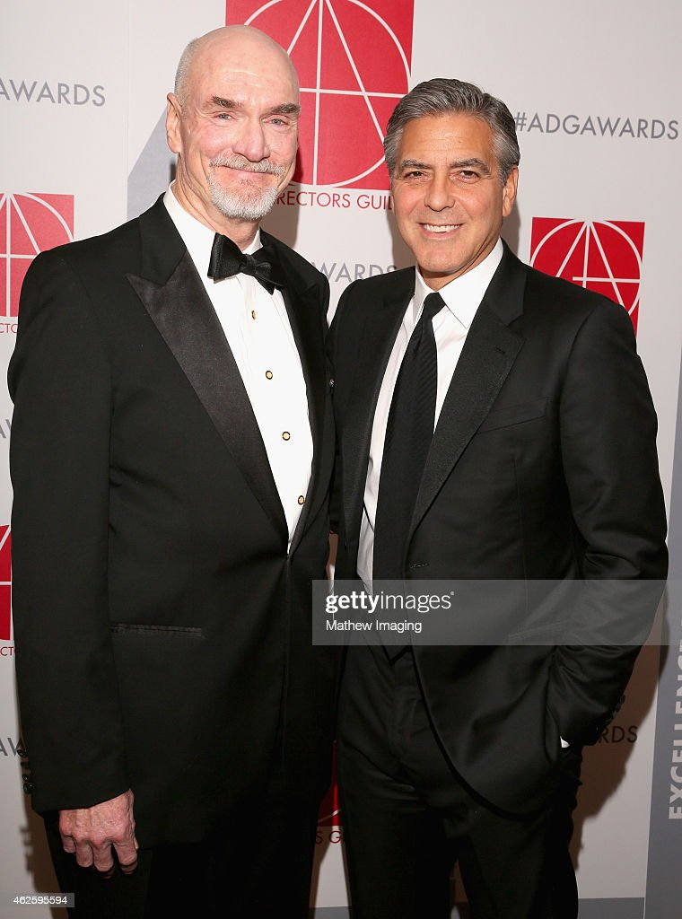 Lifetime Achievement Award Recipient Jim Bissell and presenter George Clooney attend the 19th Annual Art Directors Guild Excellence In Production...