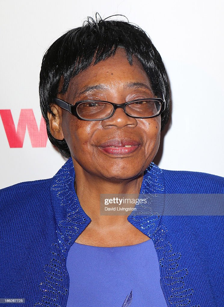 Lifetime Achievement Award winner Edna Machirori attends the IWMF Courage in Journalism Awards 2013 at the Beverly Hills Hotel on October 29, 2013 in Beverly Hills, California.