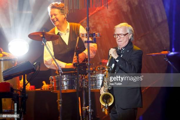Lifetime achievement award winner Klaus Doldinger during the Echo Jazz 2017 on June 1 2017 in Hamburg Germany