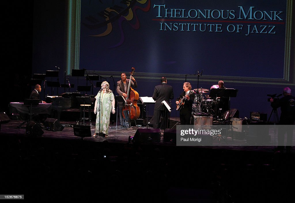 Lifetime Achievement Award-winner Aretha Franklin performs at the Thelonious Monk International Jazz Drums Competition and Gala Concert at The Kennedy Center on September 23, 2012 in Washington, DC.