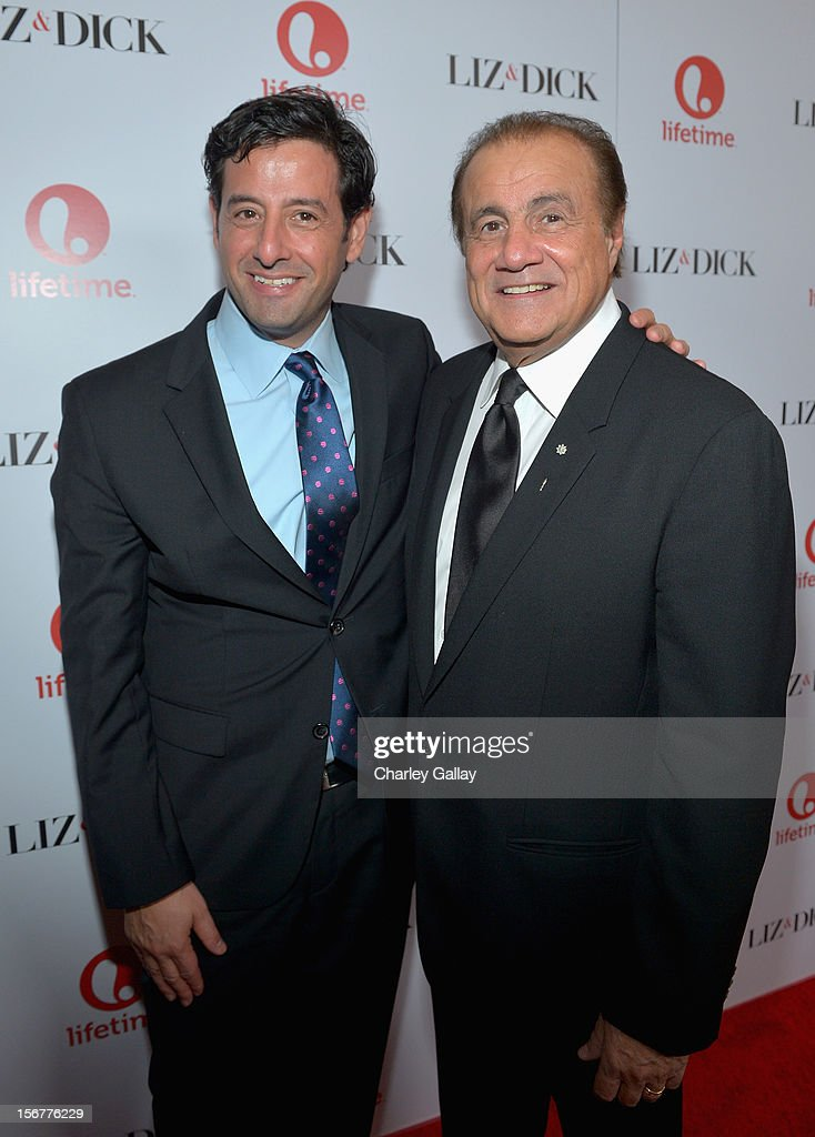 Lifetime EVP Programming Rob Sharenow and executive producer Larry Thompson attend a private dinner for the Lifetime premier of 'Liz & Dick' at Beverly Hills Hotel on November 20, 2012 in Beverly Hills, California.