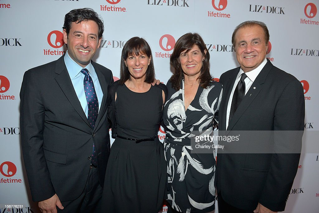 Lifetime EVP Programming Rob Sharenow, Lifetime VP Original Movies Nancy Bennett, Lifetime SVP Original Movies Tanya Lopez and executive producer Larry Thompson attend a private dinner for the Lifetime premier of 'Liz & Dick' at Beverly Hills Hotel on November 20, 2012 in Beverly Hills, California.