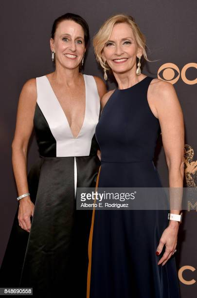 Lifetime Executive VP and head of programming Liz Gateley and _____ attend the 69th Annual Primetime Emmy Awards at Microsoft Theater on September 17...