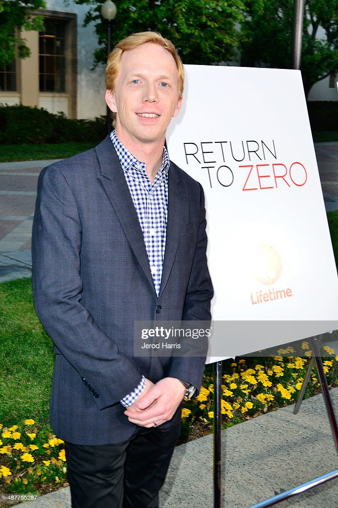 Lifetime's SVP of scheduling and acquisitions Christian Drobnyk arrives at the Premiere of Lifetime Television's 'Return To Zero' at Paramount Theater on the Paramount Studios lot on May 1, 2014 in Hollywood, California.