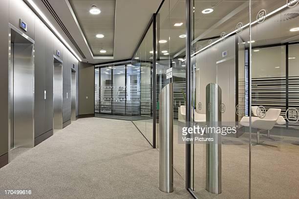 Lift lobby on upper level Major Chinese Bank Bank Europe United Kingdom TP Bennett