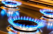 Gas Burners with Blue Flames