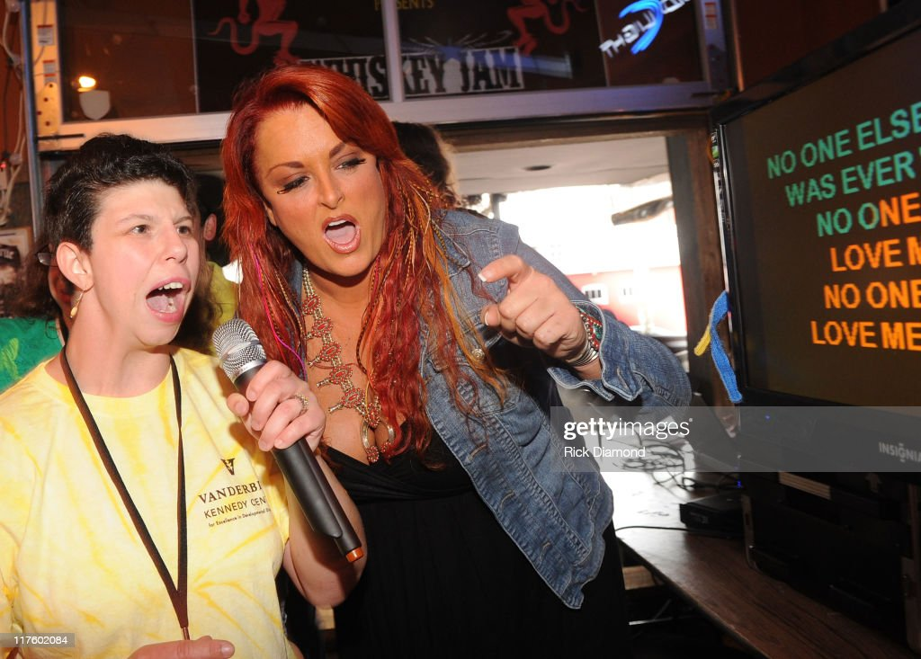 Lifting Lives Music Camper sings to and with Recording Artist Wynonna Judd as part of ACM Lifting Lives Music Camp Karaoke with WYNONNA JUDD at...