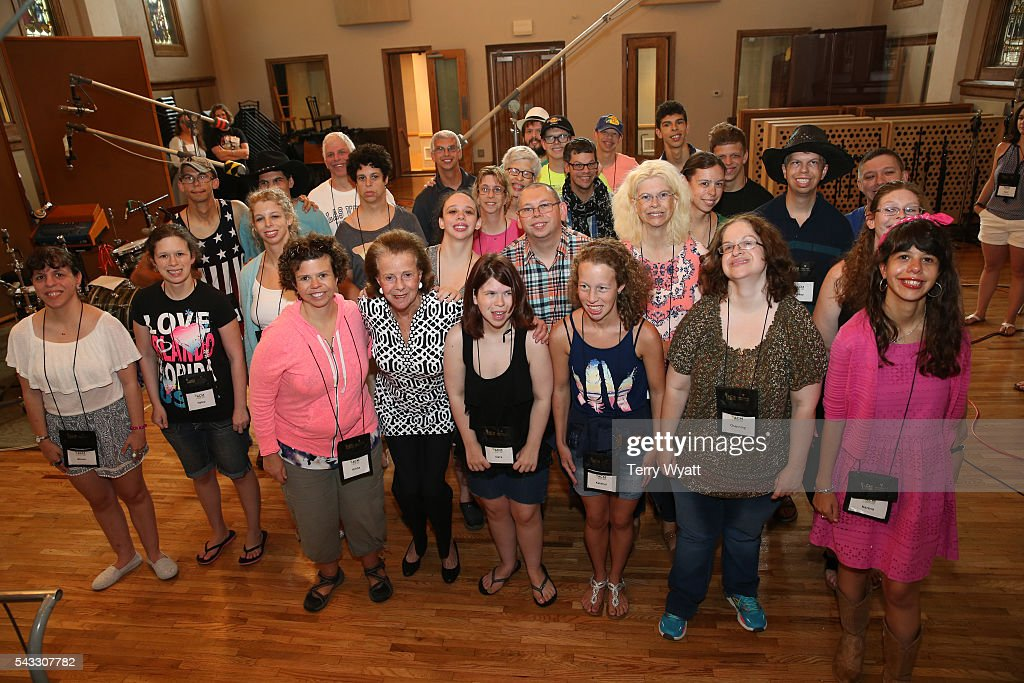 Lifting Lives Music Campers attend the ACM Lifting Lives Music Camp Studio Day With Ross Copperman & Carrie Underwood at Belmont University's Ocean Way Nashville Studios on June 27, 2016 in Nashville, Tennessee.