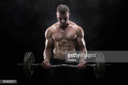 Lifting weights : Stock Photo