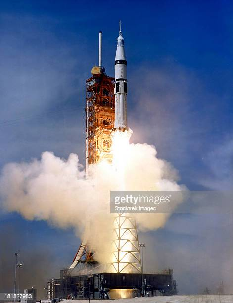 Liftoff of the Saturn IB launch vehicle.