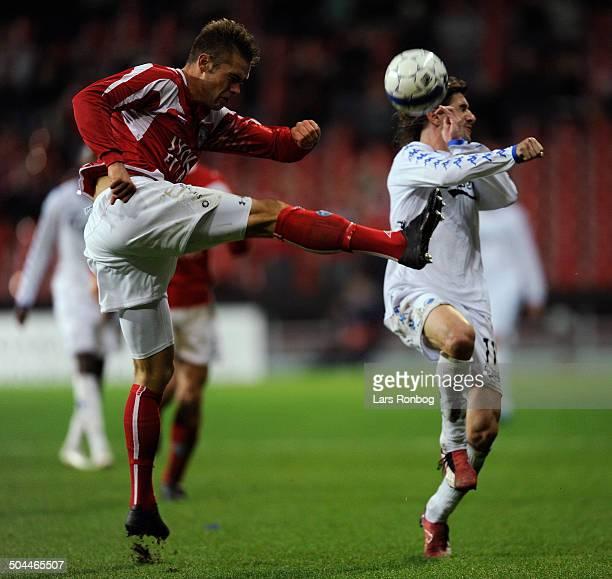 Liga César Santin FCK Jim Larsen Silkeborg IF © Lars Rønbøg / Frontzonesport