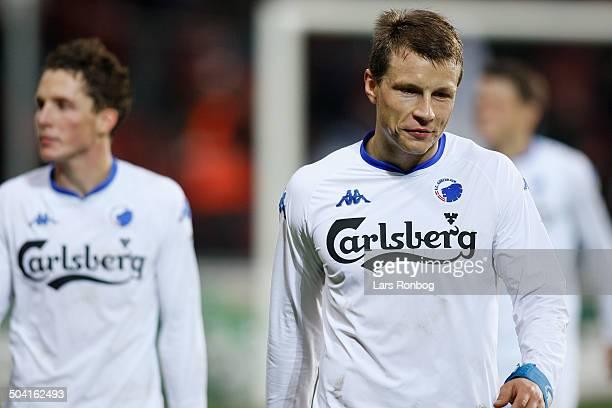 Ligaen Dissapointed FCK players Michael Gravgaard Morten Nordstrand FCK © Lars Rønbøg / Frontzonesportdk