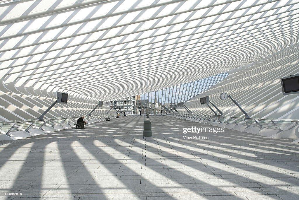 Liège Guillemins Tgv StationLiege Liege Belgium Architect Santiago Calatrava Liege Guillemins Tgv Station Santiago Calatrava Liege 2009 Day Interior...