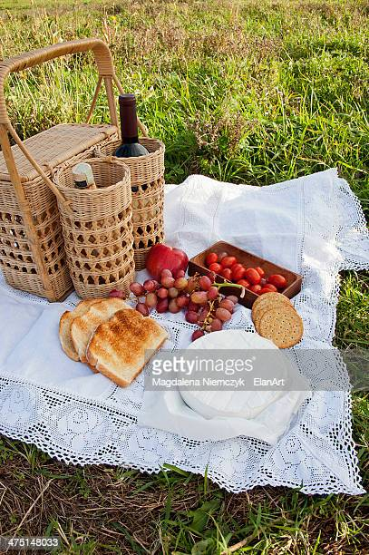 Light and healthy picnic food