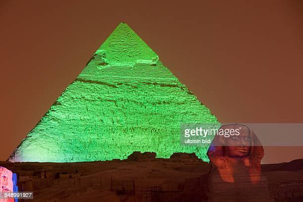 Light and Sound Show at Pyramids of Giza Cairo Egypt