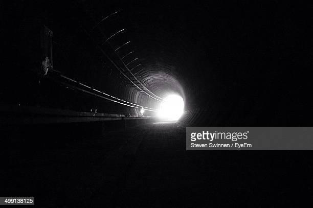 Light at the end of a dark empty tunnel