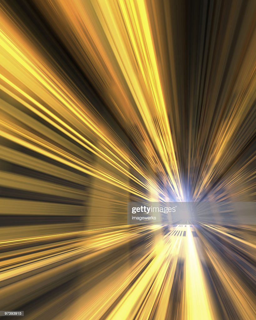 Light beam and abstract patterns (digitally generated) : Stock Photo