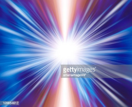 Light beam, CG : Foto de stock