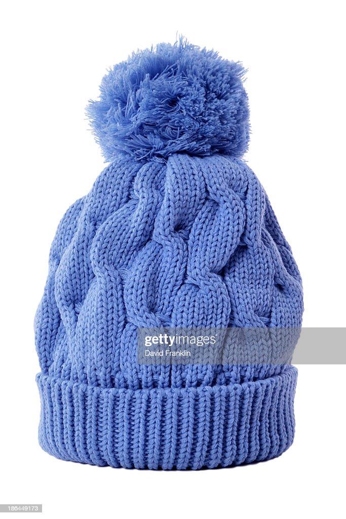 Light blue bobble hat