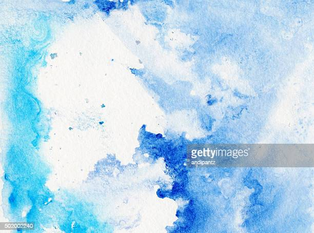 Luce colori astratto blu trama di dipinti a mano