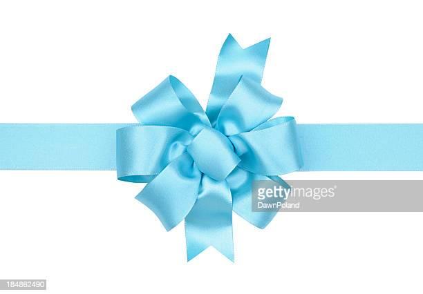 Light Blue Gift Bow