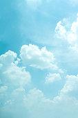 Light blue sky for background.