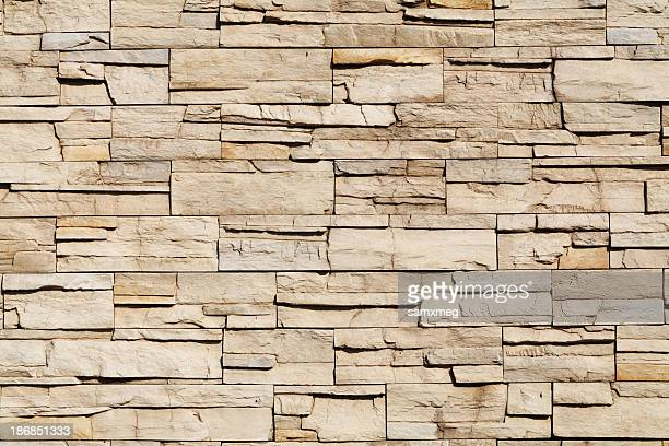 Light brown stone wall