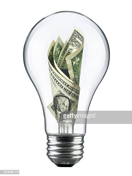 Light bulb electricity expense