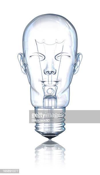 Light Bulb Head (Face)