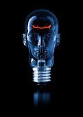 Light Bulb Head.