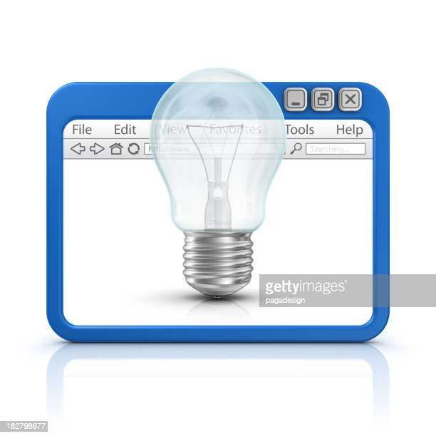 light bulb in browser