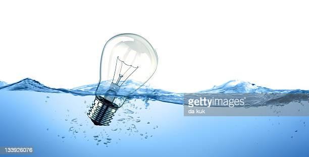 Light bulb in water