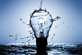 Light bulb made of water splashes