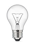 Light bulb on a white background.
