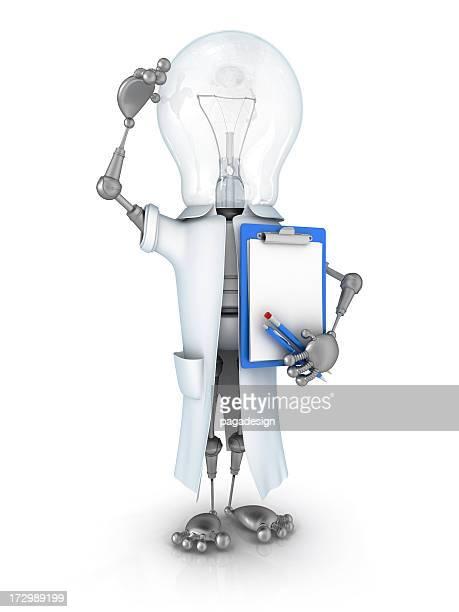 light bulb robot scientist