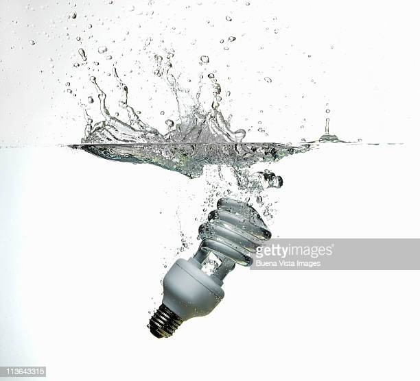 Light bulb sinking in water