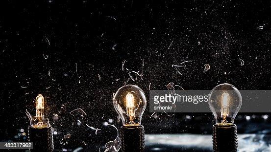 Light bulbs exploding