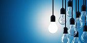 Light bulb concept. 3D Render