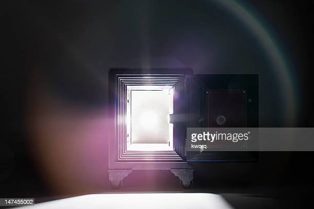 light coming out of safe